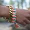 Diy woven chain bracelet