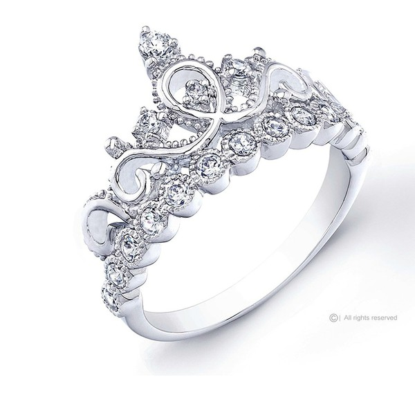 home accessory crown ring silver