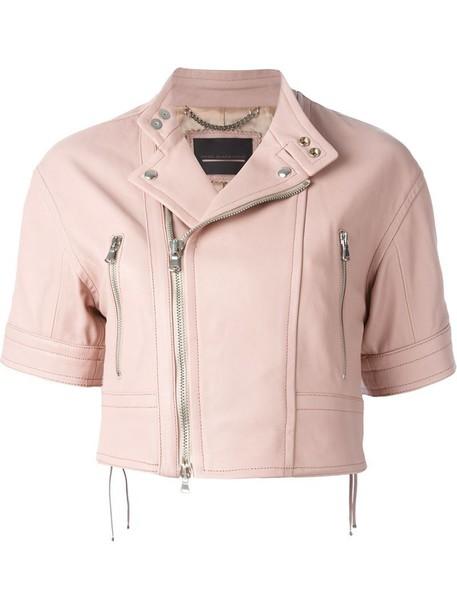 Diesel Black Gold jacket biker jacket short purple pink