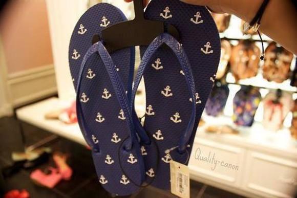 shoes anchor flip-flops
