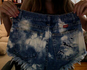 shorts,tie dye,high wasted\,high waisted