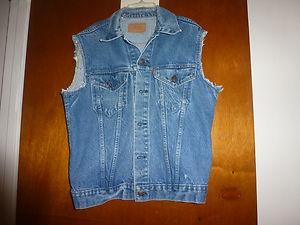 Levi's vintage cut off denim vest size 42 l