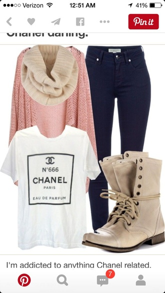 shirt chanel spring t-shirt white t-shirt shoes