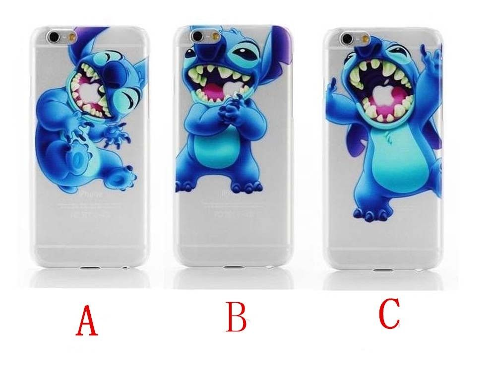 uk availability de866 0aa70 Lovely Lilo And Stitch Transparent Clear Hard Case Cover For iPhone 6s 6s  Plus