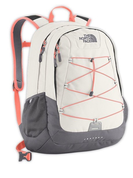 2adef167988 bag, north face, jester, backpack, white, orange, pink - Wheretoget