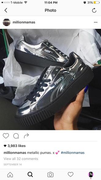 shoes puma metallic shoes sneakers