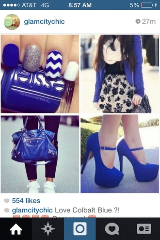 shoes dark blue high heels dress nail accessories nail polish