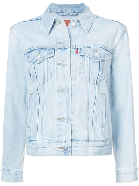 jacket women boyfriend cotton blue