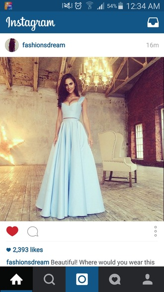 dress blue blue dress prom dress two piece dress set baby blue dress baby blue