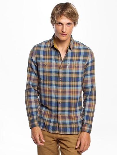 Plaid shirt Levi's L/S Workshirt Elbow Patch L/S Workshirt Elbow Patch Pd1153 - Green - Plaid shirt mens Levi's - 25282