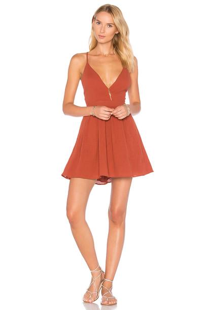 MAJORELLE dress rust