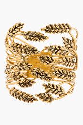 jewels,aurélie bidermann,gold,cuff,bracelets,statement bracelet