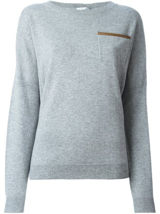 pullover women grey sweater