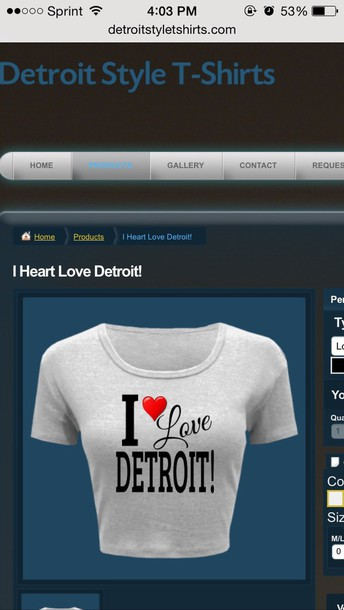 top detroitstyletshirts.com
