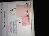 bag,dooney & bourke,Breastcanceraw,breast cancer awareness,pink,dooney and bourke purse,Pinkribbion