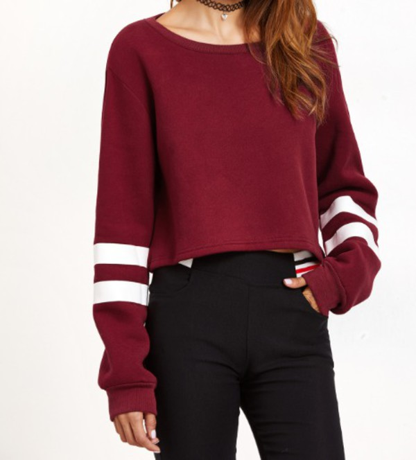 Sweater: girl, girly, girly wishlist, burgundy, burgundy sweater ...