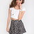 Lucy Basic Crop Top - White