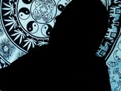 home accessory,black and white,sun,moon,yin yang,marijuana,elephant,lotus flower,mushrooms