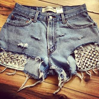 shorts vintage levi's high waisted shorts distressed shorts denim vintage levis studded shorts studded denim shorts
