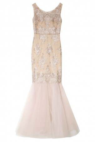 NOTTE BY MARCHESA - Pink Embroidered Mermaid Gown | Boutique1.com