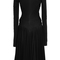 Long sleeve draped jersey flare dress by zac posen | moda operandi