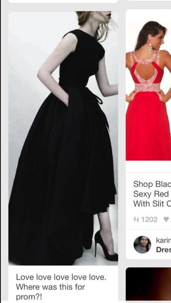 dress black dress prom dress