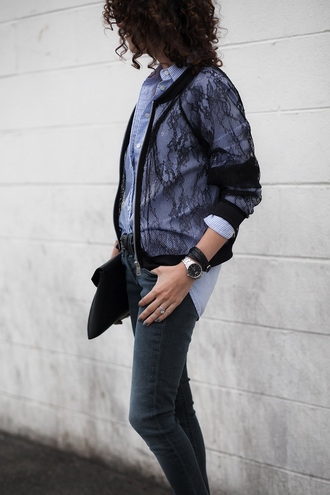 alterations needed blogger jacket shirt jeans shoes bag jewels sunglasses belt
