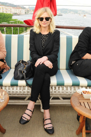 kirsten dunst black shoes