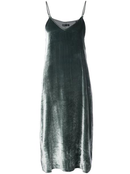 ATM Anthony Thomas Melillo dress women silk grey metallic