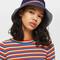 Sporty tape bucket hat - navy blue