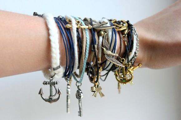 key chain friendship bracelet anchor bows dress
