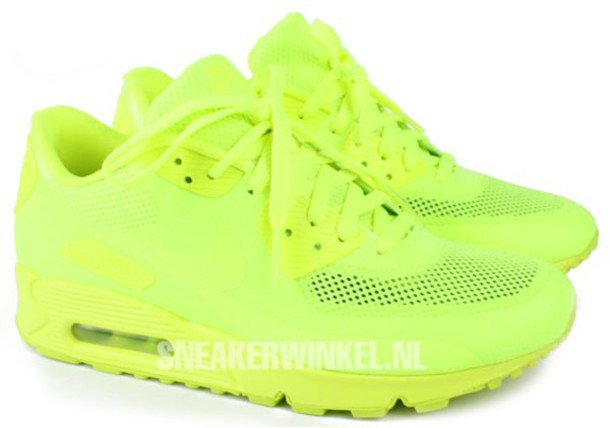nike air max 90 hyperfuse neon lime green