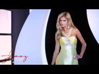 dress yellow gown prom prom dress prom gown elegant aliexpress ebay crystal