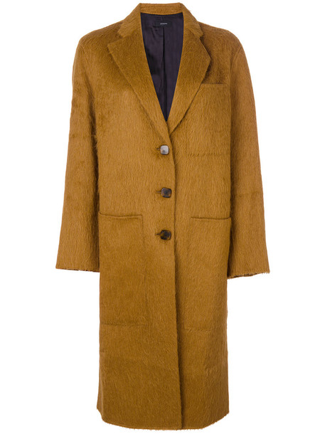Joseph coat long women wool brown