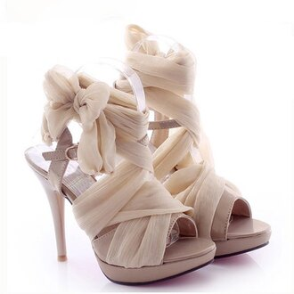 shoes soft heels cream girly pretty
