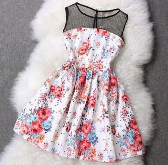 mesh polka dots white dress
