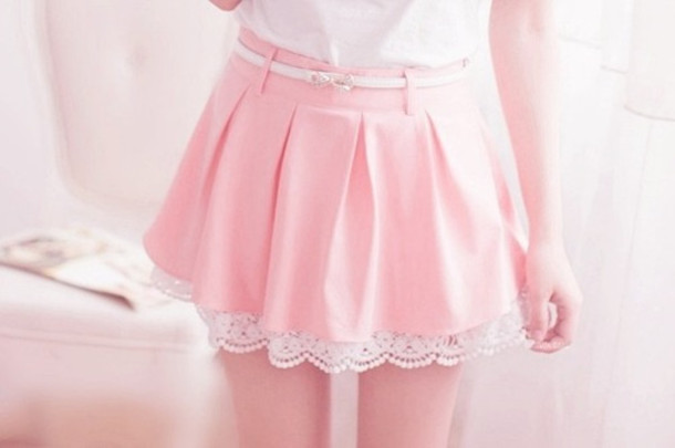 skirt, pastel, tumblr, tumblr clothes, cute, pink, kawaii - Wheretoget