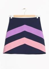 skirt,colour block,& other stories,colour block skirt,mini skirt