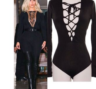 jumpsuit leotard kim kardashian one piece bodysuit
