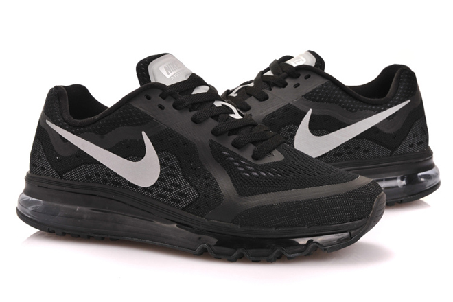Mens Nike Air Max   2014 in Black - Sliver Colorways