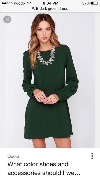 d935bc7e10899 dress dark green dress green dress
