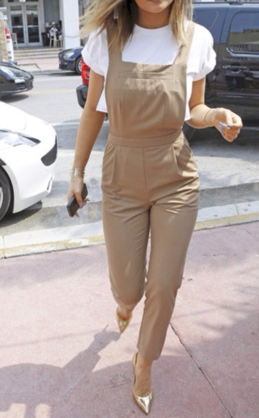 classy kylie jenner overalls