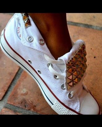 shoes studs flat shoes canvas