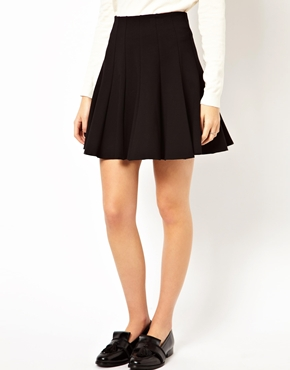 ASOS | ASOS Trumpet Hem Skirt in Scuba at ASOS