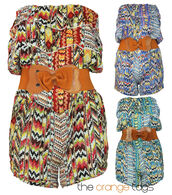 jumpsuit,retro,vintage,festival,coachella,fashion,romper,all in one,onesie,belted,belt,bow,bows,shorts,top,strapless,green,blue,orange,cute,sexy,summer,spring,instant outfit,celebrity,aztec,bandeau top