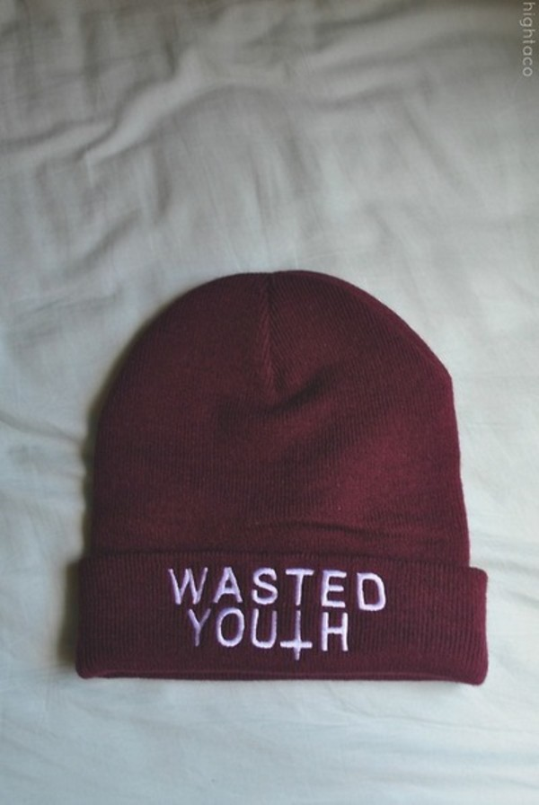 hat wasted youth hipster vintage beanie