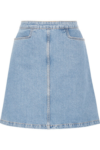 skirt mini skirt denim mini light blue light blue