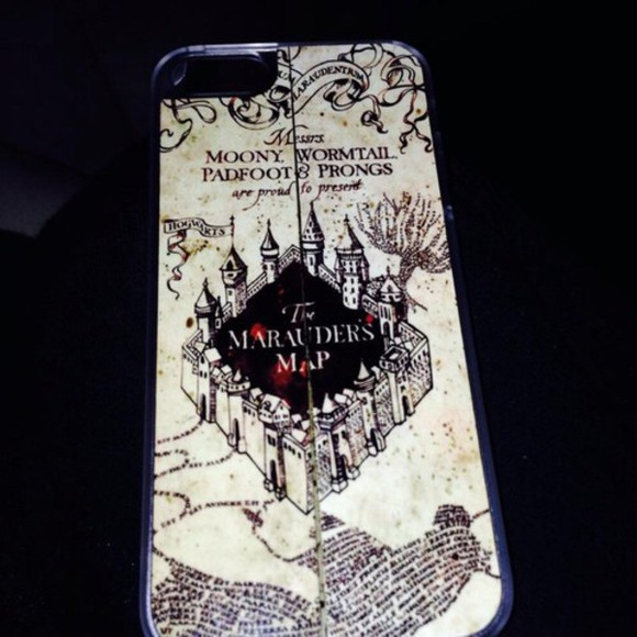 harry potter hogwarts book phone case the marauders map magic dress iphone 5 case fashion white black amazing