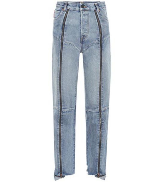 Vetements jeans high blue