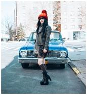jag lever,blogger,dress,socks,shoes,jacket,hat
